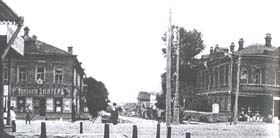 Кирпичные дома на Воскресенском проспекте